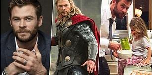 Tüm Dünyanın Hayranlıkla Takip Ettiği Sırma Saçlı Bir Kahraman: Chris Hemsworth! 😍