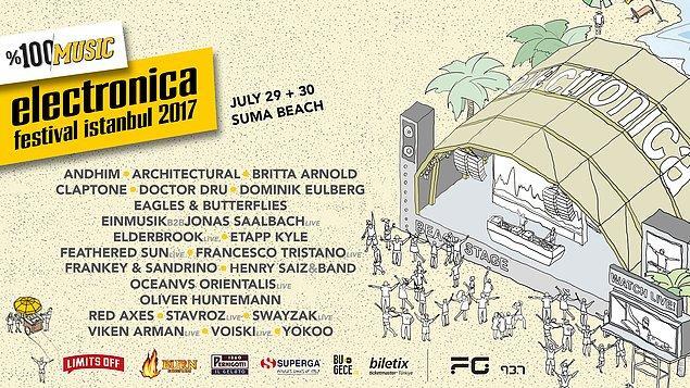2004'ten bu yana, 150.000'den fazla müzikseveri, 600'den fazla müzisyenin performanslarıyla dans ettiren, Türkiye'nin en büyük elektronik müzik buluşması Electronica Festival, 29-30 Temmuz'da onuncu kez İstanbul'da!