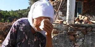 Depremde Yıkılan Evine Değil Ölen Civcivlerine Ağlayan Elleri Öpülesi Nine