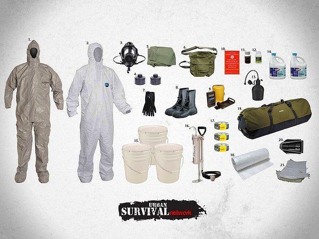 FEMA'ya göre her bir acil durum çantasının içinde olması gereken malzemeler şöyle;
