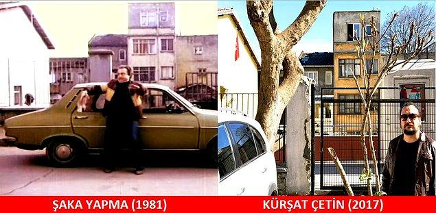 26. ŞAKA YAPMA (1981) Zeki, arabayı silerken.