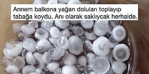 İstanbul'daki Dolu Yağışına Tepkisiz Kalamamış 17 Kişi