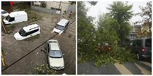 Çatılar Uçtu Araçlar Hasar Gördü! İstanbul Dolu, Yağmur ve Fırtınaya Teslim
