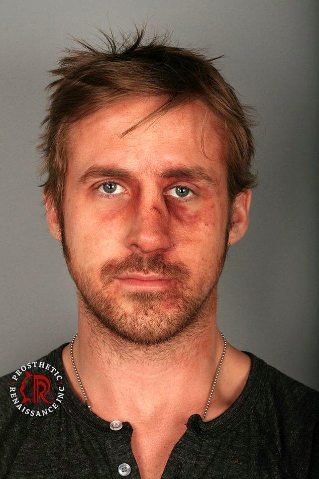 """15. Ryan Gosling'in """"Bule Valentine"""" makyajı"""