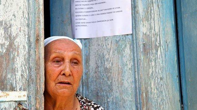 """""""Üç ayda bir 705 lira alıp, yapılan yardımlarla geçiniyorum"""""""