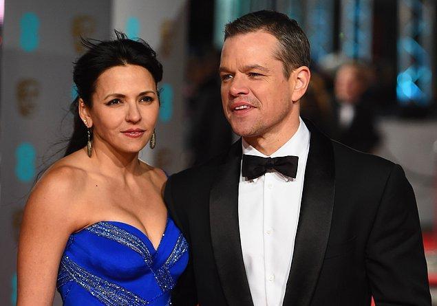 4. Bir külkedisi masalına geldi sıra: Matt Damon & Luciana Barroso