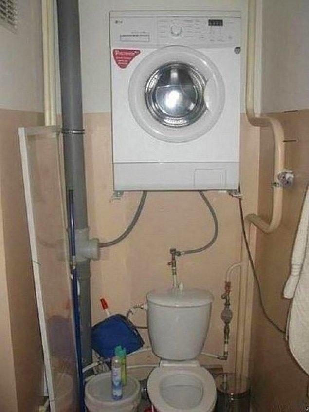 12. Banyoda kısıtlı yeri olanların bayılacağı çözüm önerisi.