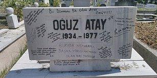 Kelimeler, Mezar Taşlarında... Oğuz Atay'ın Karalama Defterine Dönen Mezar Taşı