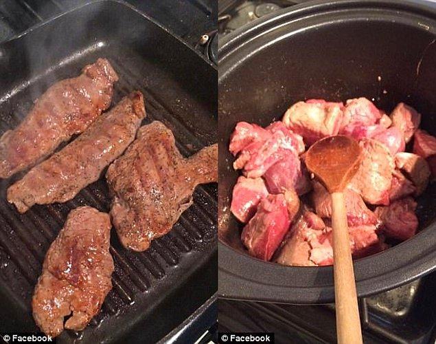 Sonrasında bu hayvanların etlerini pişiriyor ve yemeklerin fotoğraflarını Facebook sayfasında paylaşıyor. Bu fotoğraflar ona 15 bin takipçi 'kazandırdı.'