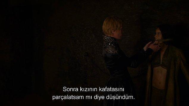 Cersei'yi biraz tanıyorsak feci şeyler olacak...