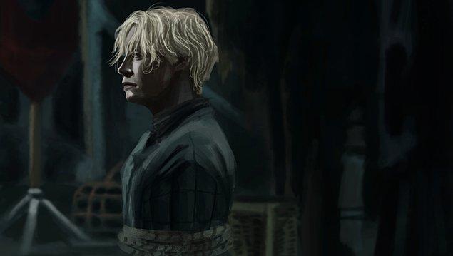 2. 2 saatlik çalışma sonucu ortaya çıkan Brienne of Tarth a.k.a İri Kadın.