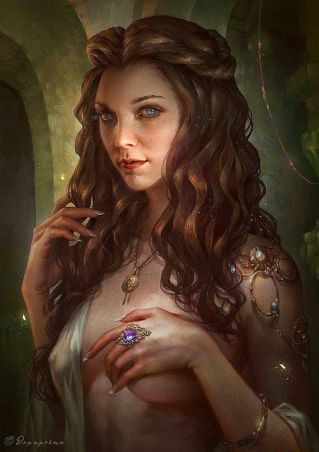 5. İnanç uğruna yitip giden bahtsız kraliçe adayı Yüksekbahçe'nin güzel yüzlüsü Margaery Tyrell.