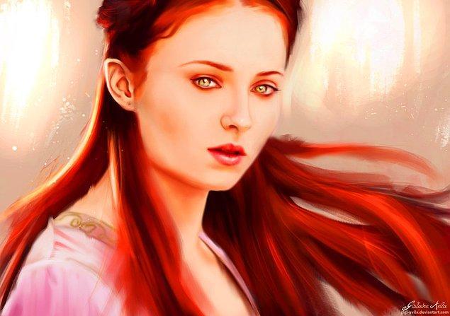 6. Hayranlar tarafından sevmekle, sevememek arasında gidip gelen Sansa Stark!