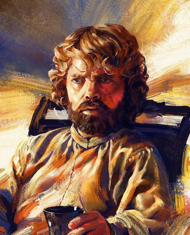 7. Game of Thrones'un en iyi edebiyatçısı, siyasetçisi ve Hand of Queen Tyrion Lannister.