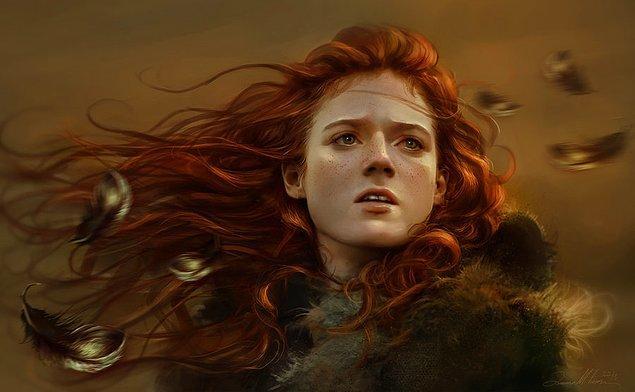 9. Aşkı uğruna savaşan yabani bir kadın! Ygritte.