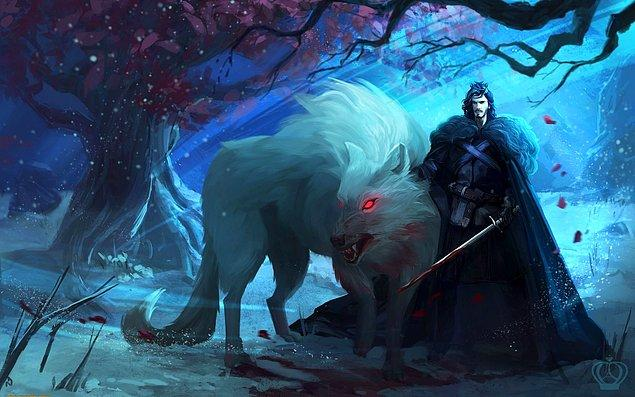 21. Jon Snow ve sadık dostu Ghost.