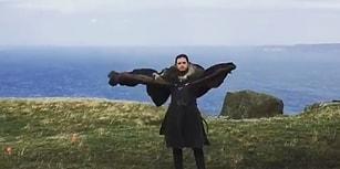 Emilia Clark'tan Ejderha Görünümlü Jon Snow Paylaşımı