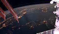 Time Lapse Olarak Dünyaya Düşen Yıldırımların Uzaydan Kaydedilen Görüntüleri