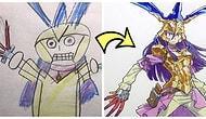 Oğullarının Resimlerinden İlham Alarak Anime Çizimleri Yapan Babadan 22 Yepyeni Çalışma