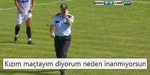 Başka Ülkede Maç İzleyemem! Ziraat Türkiye Kupası Maçında Farkında Olmadan Sahaya Giren Polis