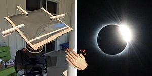 Güneş Tutulmasını Kendi Yöntemleriyle Fotoğraflayıp Harikalar Yaratan Adam