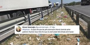Gurbetçilere 'Avrupa'da Olsan Atamazsın' Eleştirisi: Kapıkule Sınır Kapısı'nda Geriye Çöpler Kaldı...