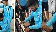 Milli Takım Oyuncusu Umut Bozok'tan Havalimanında Piyano Resitali