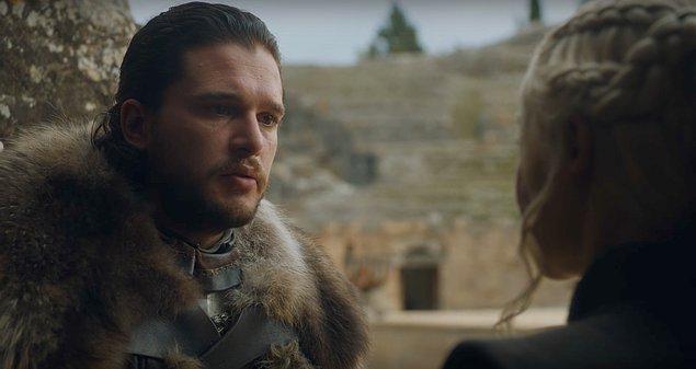 Son bölümde artık Jon bile bu duruma el attı ve Dany'nin sahip olduğu bu bilginin güvenilirliğini sorgulamasını istedi.