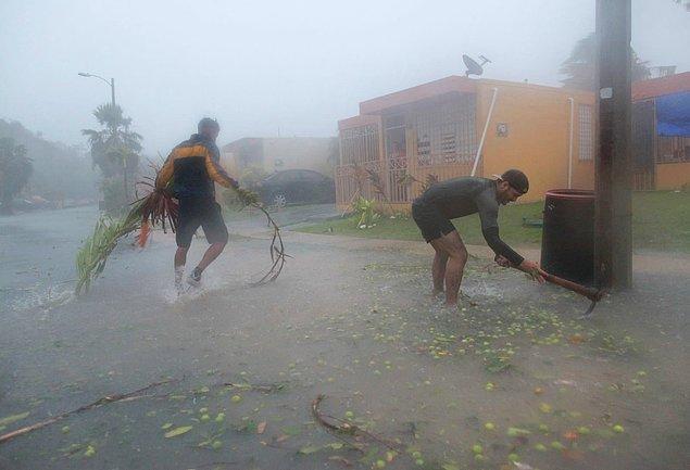 1. Geçtiğimiz hafta çarşamba günü Irma Kasırgası, Porto Riko'nun Fajardo şehrini vurdu.