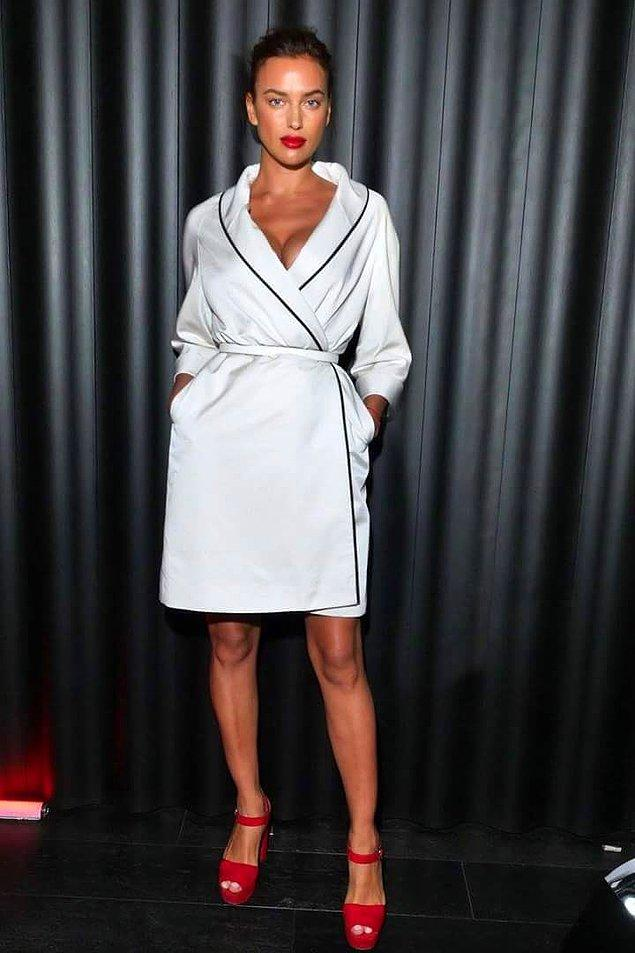 11. Gigi Hadid'in pijamasından sonra, bir uyku çağrıştıran görüntü de İrina Shayk'tan...