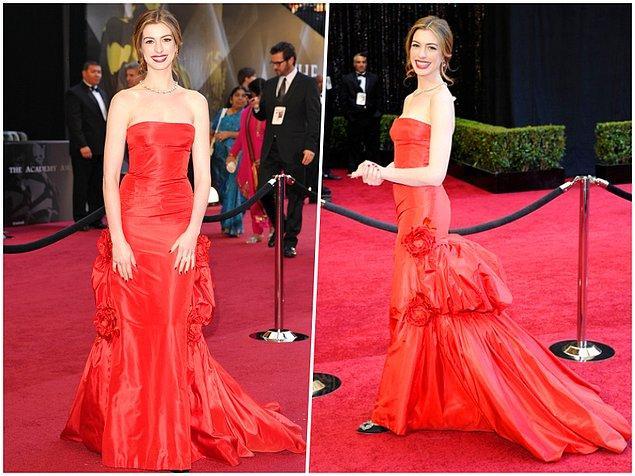 12. Sunucu olduğu 2011 yılındaki törene Valentino imzalı 80.000$ değerindeki elbiseyle katılan Anne Hathaway, bu muhteşem elbiseyi 10 milyon dolarlık Tiffany and Co. markalı bir mücevherle tamamlamıştı.