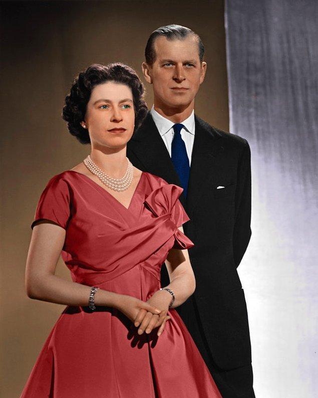 Prens Philip ve Elizabeth.