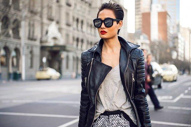 4. Deri ceket güneş gözlüğü desek?