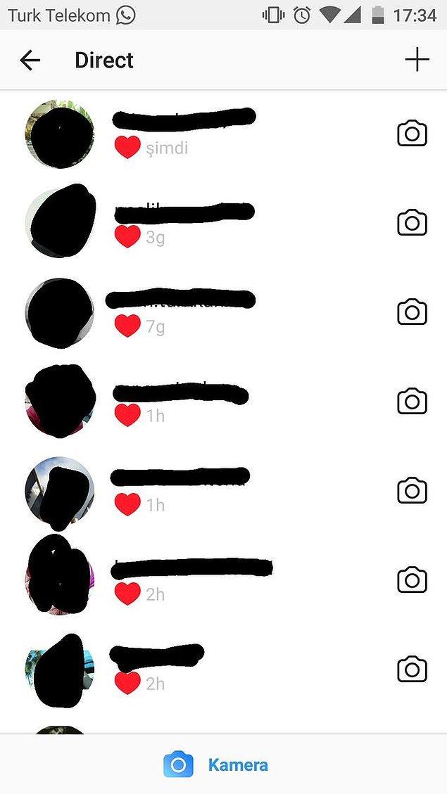 10. Instagram'da konuşmayı sonlandırma itemi