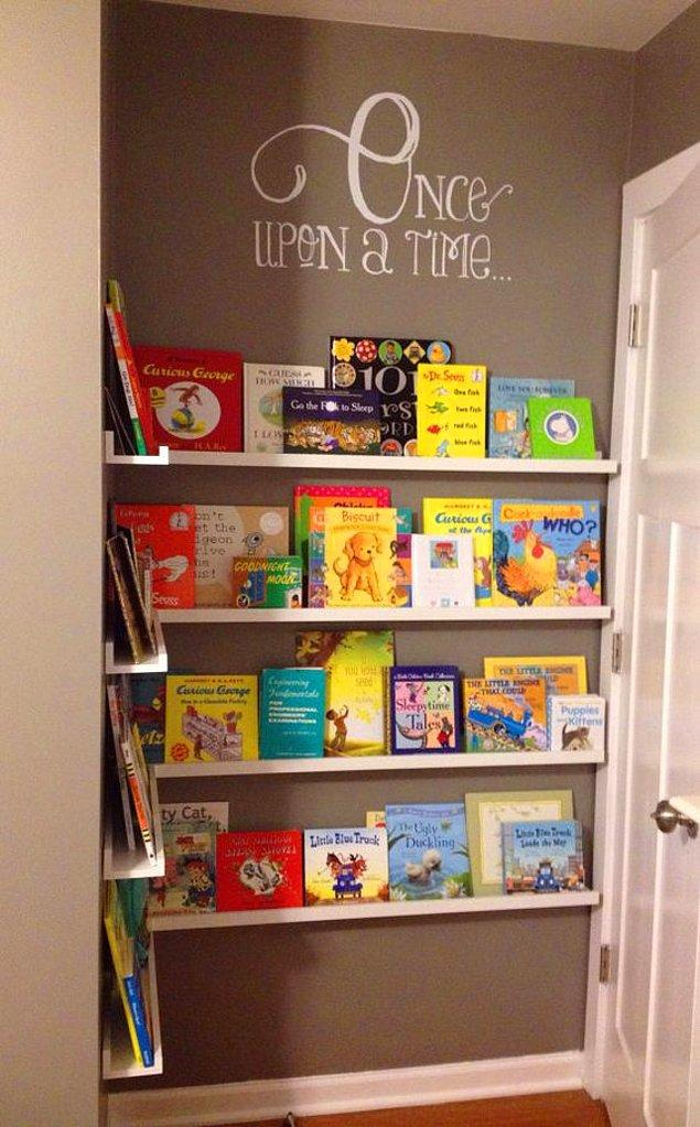 6. Çocukları unutmamak gerek! Çocuklarınızın odasındaki boşlukları onlar için heveslendirici okuma köşelerine...