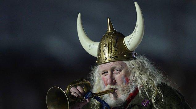 3. Vikingler'in boynuzlu kasklar taktıklarına dair bir buluntu şimdiye kadar olmamış.