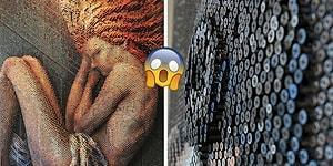 20 Bin Çivi Kullanarak Yarattığı Üç Boyutlu Portrelerle Ağızları Açık Bırakan Sanatçı