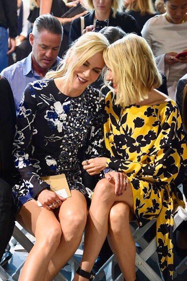 11. Nicole Kidman ve yakın dostu Naomi Watts'ın çiçek desenli elbiselerinin uyumu da gözlerden kaçmadı