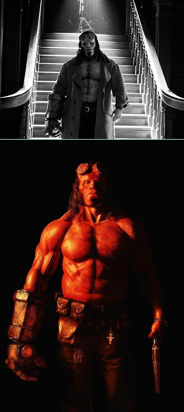 3. David Harbour'lu Hellboy filminden ilk tanıtım fotoğrafları yayınlandı. Nefis görünüyor!