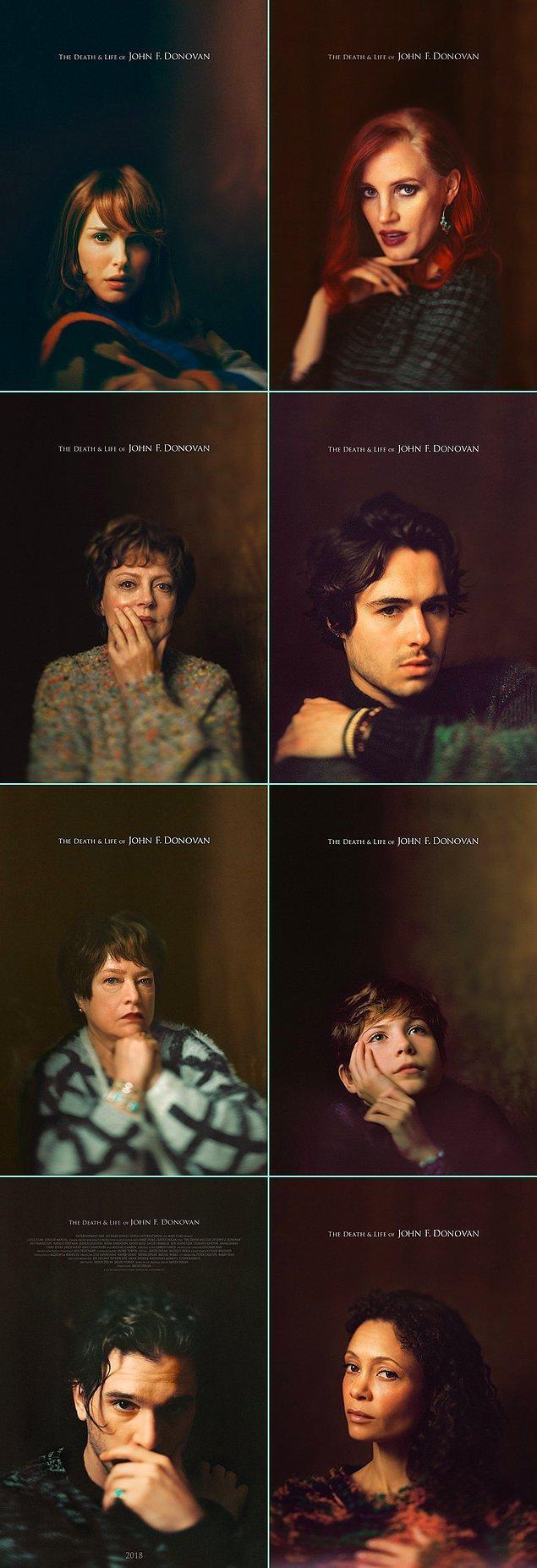 """9. Xavier Dolan filmi """"The Death and Life of John F. Donovan""""a yeni posterler eklendi. Yenileriyle birlikte işte tamamı:"""