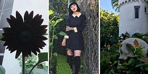 Dövme Sanatçısı Kat Von D'nin Büyülü Gotik Bir Dünyaya Ait Gibi Duran Siyah Bahçesi