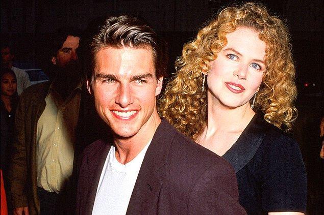 8. Nicole Kidman ilk evliliğini birçok filmde beraber rol aldığı Tom Cruise'la gerçekleştirirken, bu evlilik 1990'dan 2001 yılına kadar sürdü.