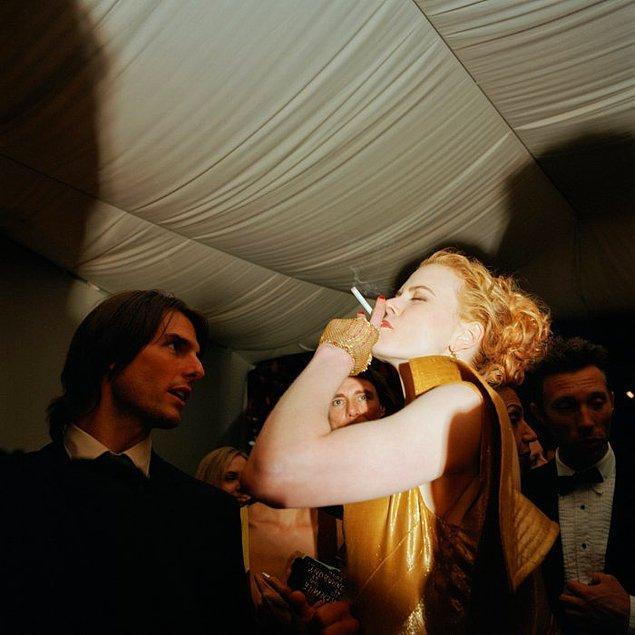 15. Gecenin diğer bir konuşulan anı ise büyük yıldızın rol arkadaşı Alexander Skarsgard'a verdiği öpücük oldu ancak...