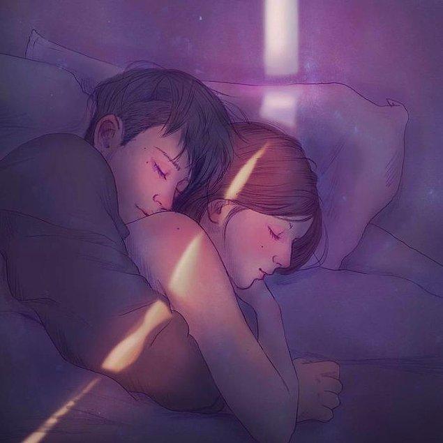 3. Kollarında uyumak dedikleri!