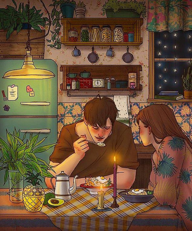 4. Evde aşkla yapılmış yemeklerin verdiği huzur gibisi yok.