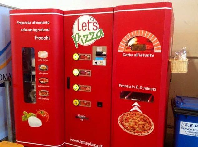 2. Yalnızca pizza satan bu otomat 😍
