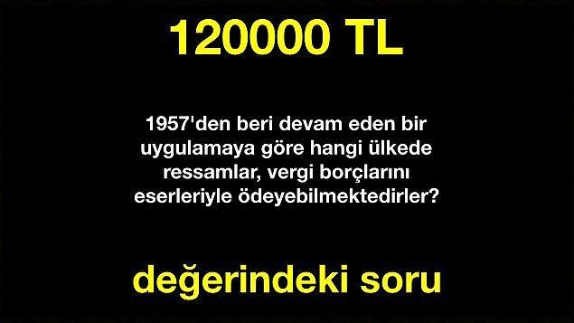 Doğru cevap! 60000 TL kazandın.