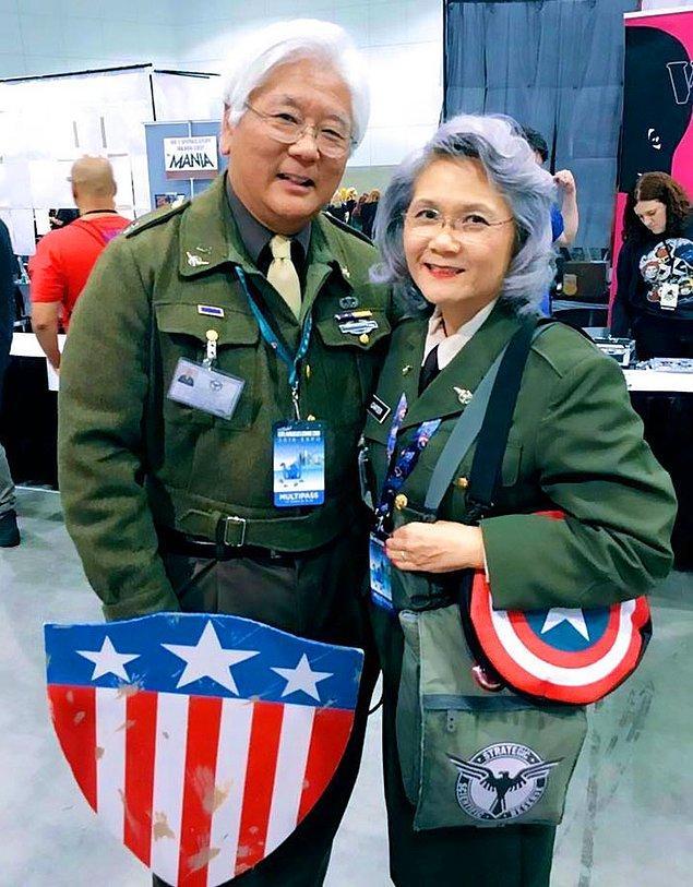 7. Captain America: The First Avenger'dan Steve Rogers ve Peggy Carter