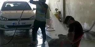 Sivas'ta Bir Oto Yıkama: Çalışanını Sandalyeye Bağlayarak Tazyikli Su Tutan İşveren 'Şakalaşmış'