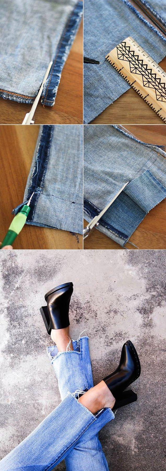 Her yerde satılan asimetrik paçalı pantolonlara para vermenize gerek yok.